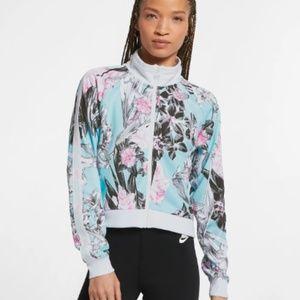 Nike Sportswear Floral Blue Pink Jacket Sz M